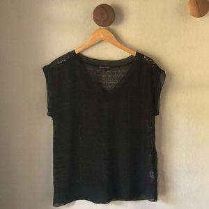 Eileen Fisher Sheer black top